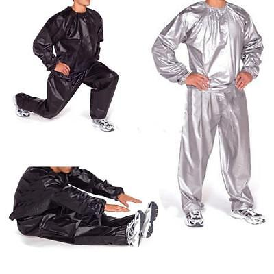 Training Gym Workout Fitness Sauna Sweat Suit Slimmer Weight Loss Anti-Rip XL