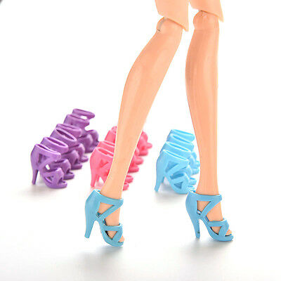 10 Pairs High Heel Shoes For Barbie Doll Girls Gift Outfit Toy Random FT