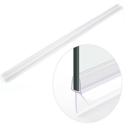 2x Bath Shower Screen Gap Seal Rubber Plastic Silicone Glass Door Curved Flat