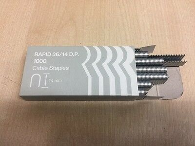 RAPID 36/14 DP 14mm CABLE STAPLES 1000