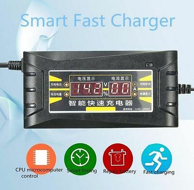 12V 6A LCD Display Smart Car Intelligent Fast Battery Charger For Car Motorcycle