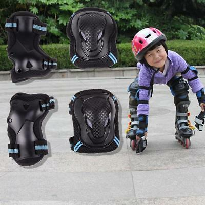 SET of 6PCS ROLLER SKATING SKATEBOARD KNEE ELBOW WRIST PROTECTIVE GUARD PAD GEAR