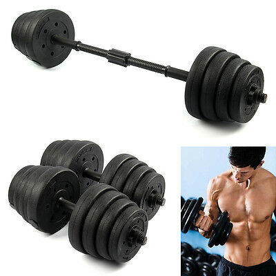 2X Dumbbell Set 30KG Gym Fitness Biceps Exercise Training Weights Workout UK