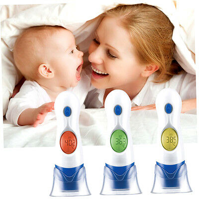 4 In 1 LCD Digital Electronic Infrared Ear Thermometer For Baby Kids HT-208 F1