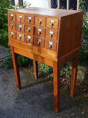 Vintage Mid Century Industrial LIBRACO London Index/Library Card Cabinet Stand