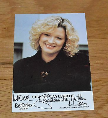 SIGNED EastEnders Gillian Taylforth - Kathy Beale Official Cast Card Autographed