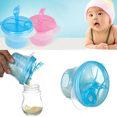 Baby Kids Travel Milk Powder Formula Dispenser Container Pot Box 3 Compartment