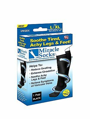Miracle Socks Relief Compression Achy Feet Varicose Veins DVT Flight Travel