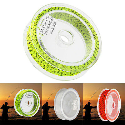 20/30LB Fly Line 50m Backing Braided Line 5 Colors Fly Fishing Trout Line & Loop