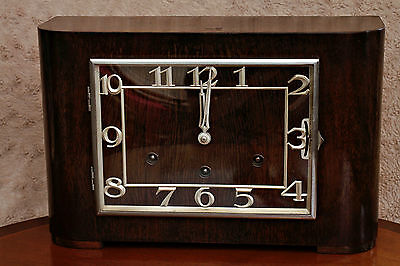 Antique Art Deco FHS German Clock Westminster, Whittington & St. Michael Chimes