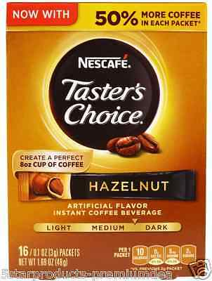 New Nescafe Taster's Choice Instant Coffe Beverage Hazelnut Daily Healthy Drinks