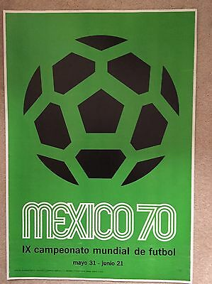 World Cup 1970 Original Poster