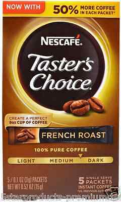 New Nescafe Taster's Choice Instant Coffe Beverage French Roast Daily Healthy