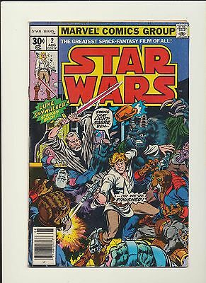 STAR WARS #2! Marvel Comics 1977! SEE SCANS AND PICS! KEY BOOK! WOW!