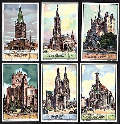 Medieval German Cathedrals Rare 12 Card Set Liebig 1934 Germany Church Gothic