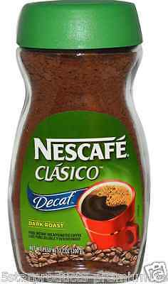 New Nescafe Classico Pure Instant Decaffeinated Coffe Decaf Dark Roast Daily