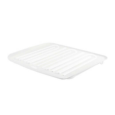 Rubbermaid 1180-MA-CLR Microban Antimicrobial Dish Drain Board, Small, Clear
