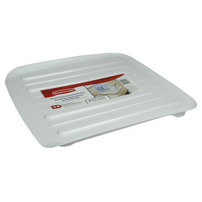 Rubbermaid 1180-MA-WHT Microban Antimicrobial Dish Drain Board, Small, White
