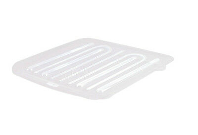 Rubbermaid 1182-MA-CLR Microban Antimicrobial Dish Drain Board, Large, Clear