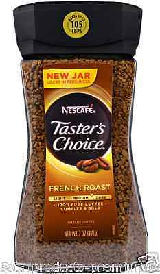 New Nescafe Taster's Choice Instant Coffee Beverage French Roast Daily Healthy