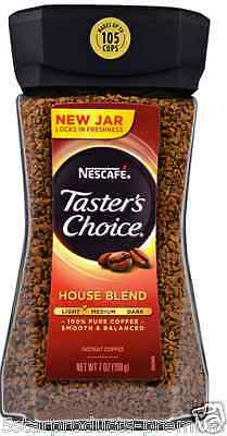 New Nescafe Taster's Choice Instant Coffee Beverage House Blend Daily Healthy