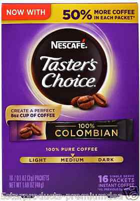 New Nescafe Taster's Choice Instant Coffee Beverage 100% Colombian Daily Healthy