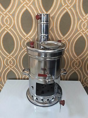 Turkish Samovar Wood&Coal Barbecue&Water Heater 6L Camp Stove