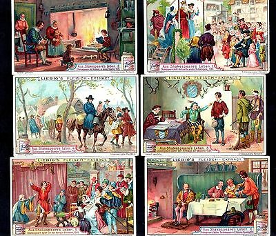 William Shakespeare Cards Set 1906 Liebig Theatre Play Works Actor Book English