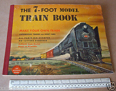 1950 Wallis Rigby Press-Out The 7-Foot Model Train Book New York Central Loco
