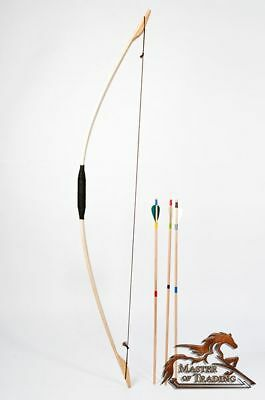 "Large ""robin's Bow"" + 3 Arrows Children Kids Adult Hand Crafted Wooden Toy!!!"