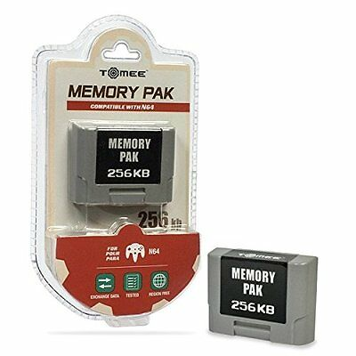 Carte Mémoire 256k Sauvegarde Console Nintendo 64 N64 Memory Pack Tomee