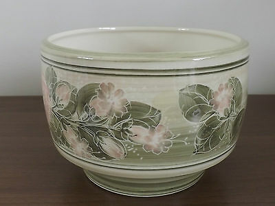 Pretty Jersey Pottery Indoor Bowl Pant Pot/Vase 'Flower Design/Conservatory'