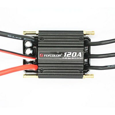 120A Electronic Speed Controller BEC ESC Brushless Ship Model RC Boats