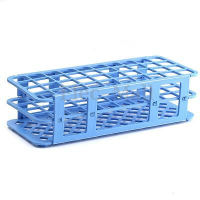 40 Holes 20mm 3 Layers Plastic Test Tube Rack Holder Storage Stand Lab 40mm Wide