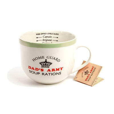 Dads Army - Soup Rations Mug with Fill Levels for Captain Sergeant and Corporal