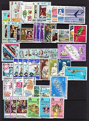 French New Hebrides Various Complete Fine Used Commemorative Sets 1971-1977.