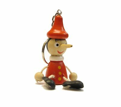 Souvenir Keychain Wooden From Italy Pinocchio