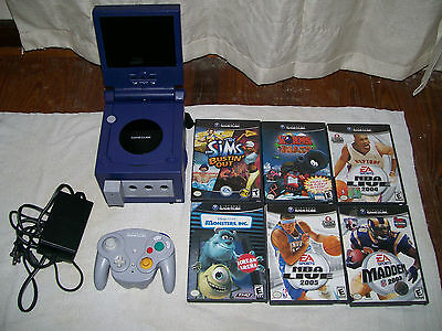 Nintendo GameCube Indigo/Purple with Monitor & Games