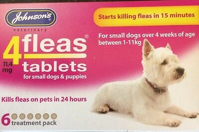 Johnsons 4Fleas Tablets For Small Dogs 6 Treatment Packs