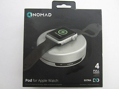 Genuine Nomad Charging Pod for Apple Watch - (pod-apple-s-001) - Silver - New!