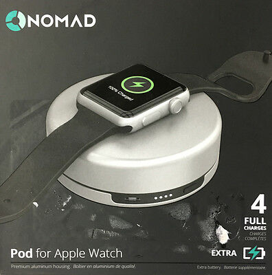 Genuine Nomad Charging Pod for Apple Watch - (pod-apple-s-001) - Silver - NO