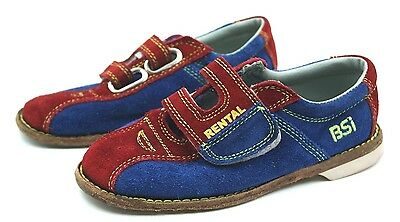 BSI Boys Rental Bowling Shoes Suede Size 2 Leather Sole