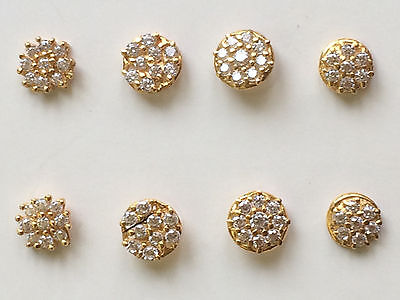 22 ct gold indian nose/ ear stud   x 1 piece  assorted colour designs lot 26