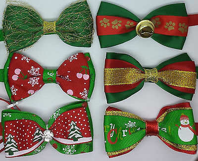 Christmas Adjustable Pet Cat Dog Teddy Doll Necktie Grooming Bowtie Mix Fashion
