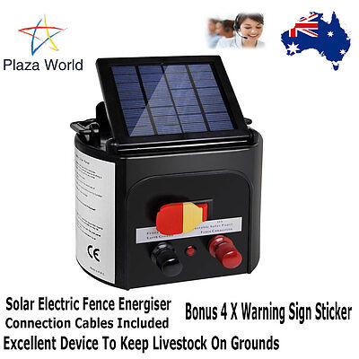 5km Solar Power Electric Fence Energiser Charger Compact Lightweight Versatile