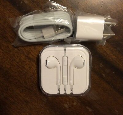 iPhone 6s Headphones and Charging Cable Bundle