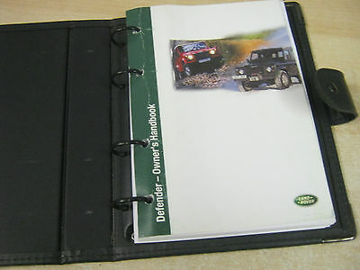Land Rover Defender Owners Handbook Manual 2000-2006 AND WALLET