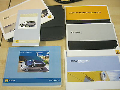 Renault Espace Owners Manual Handbook 2006-2010 Inc Service Book