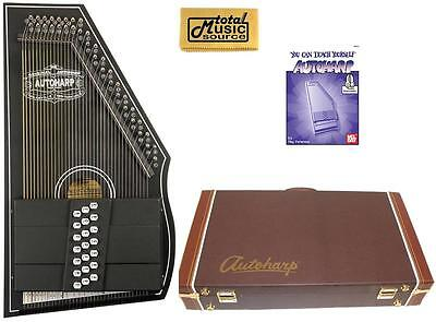 Oscar Schmidt OS73CE 1930's Reissue 21 Chord Autoharp with Pickup - Black W/Har