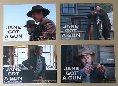 JANE GOT A GUN - Lobby Cards Set of 4 - Natalie Portman, Ewan McGregor